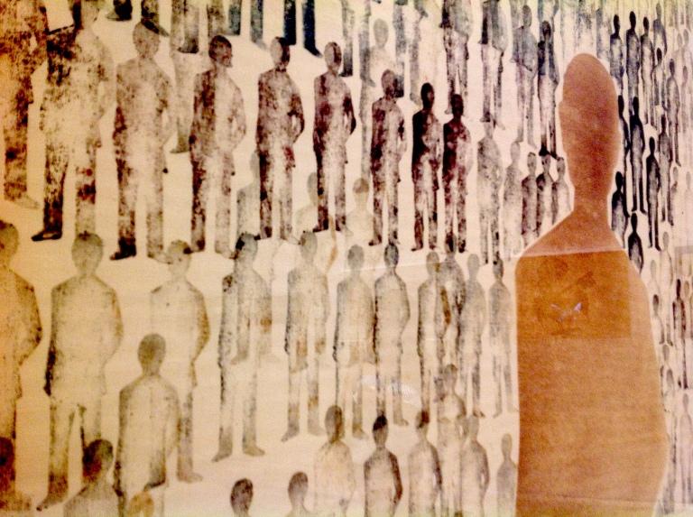 Renato Mambor, Comizio (1963).jpg