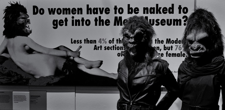 Guerrilla Girls at the V&A Museum by Eric Huybrechts via Wikimedia Commons.jpg